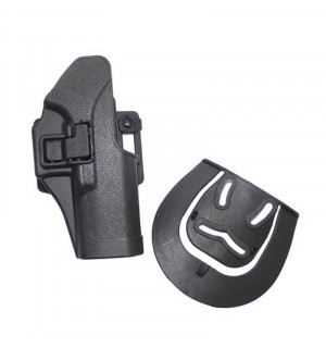 QUICKLY PISTOL HOLSTER WITH LOCKING MECHANISM FOR G.17 - BLACK [CS]