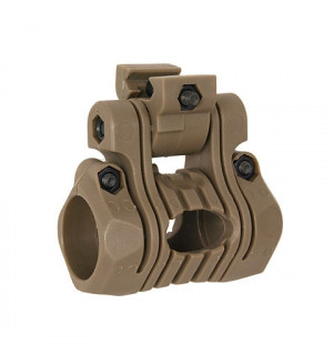 "5-POSITIONS 1"" FLASHLIGHT MOUNT - DARK EARTH"