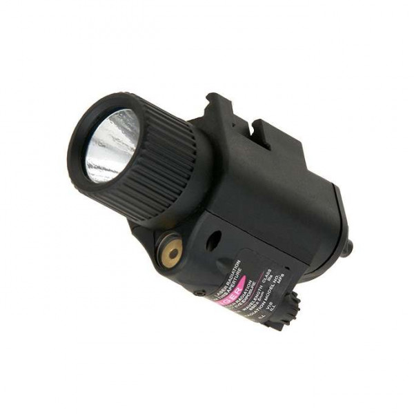 350lm INTEGRATED WHITE LIGHT/RED LASER COMBO - BLACK [PCS]