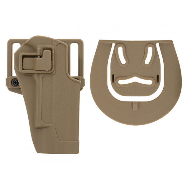 QUICKLY PISTOL HOLSTER WITH LOCKING MECHANISM FOR 1911 - TAN [CS]