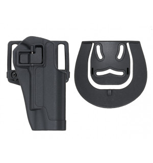 QUICKLY PISTOL HOLSTER WITH LOCKING MECHANISM FOR 1911 - BLACK [CS]
