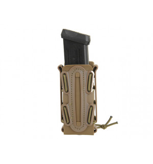 SOFT SHELL PISTOL MAG POUCH WITH MOLLE CLIP - COYOTE [TMC]