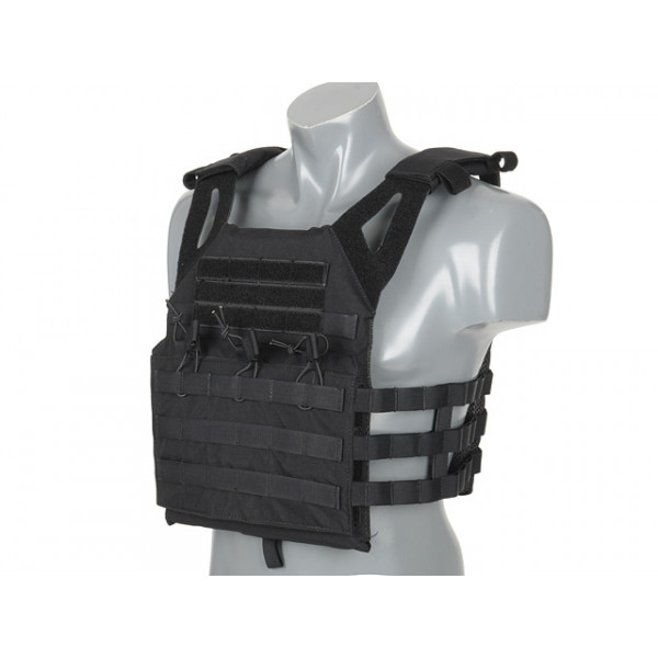 [8 FIELDS PREMIUM] JUMP PLATE CARRIER V2 с имитацией бронеплит - BLACК