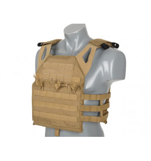 [8 FIELDS PREMIUM] JUMP PLATE CARRIER V2 с имитацией бронеплит - Coyote Brown