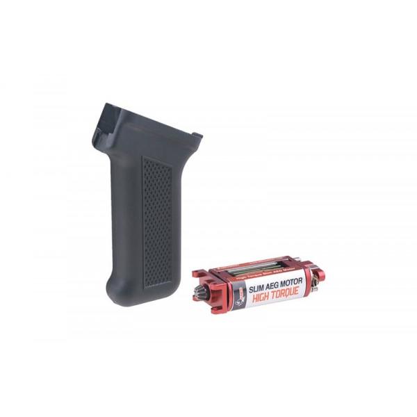 [ARES] Комплект АК ручки и High-torque SLIM-мотора - Black