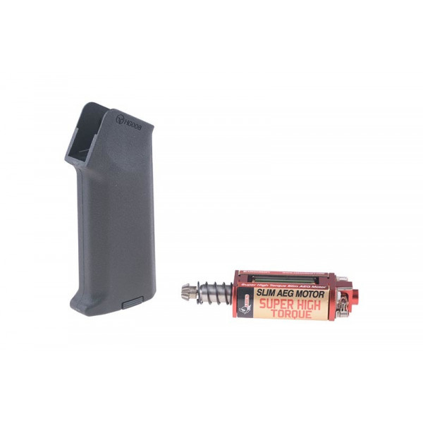 [ARES] Комплект М4 Amoeba ручки и Super High-torque SLIM-мотора - Black