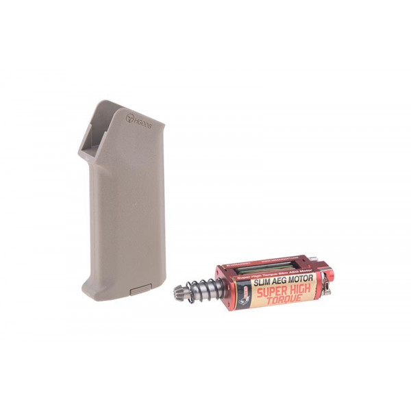 [ARES] Комплект М4 Amoeba ручки и Super High-torque SLIM-мотора - Tan