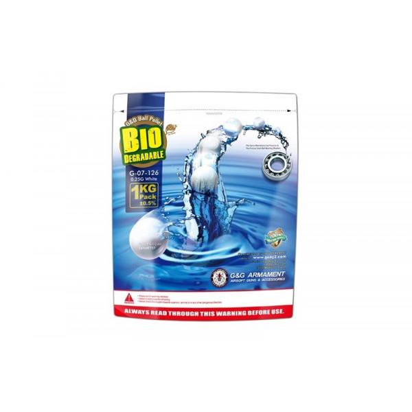 [G&G] Био-шары 1kg BIO 0,25g BBs - white