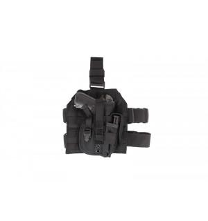 [GFT] Набедренная кобура универсальная с подсумком на платформе - Black