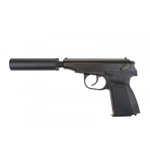 [WE] Пистолет с глушителем ПМ MK - black