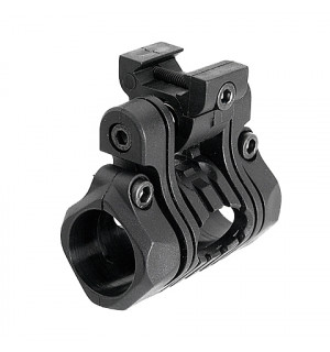 "5-POSITIONS 1"" FLASHLIGHT MOUNT - BLACK"
