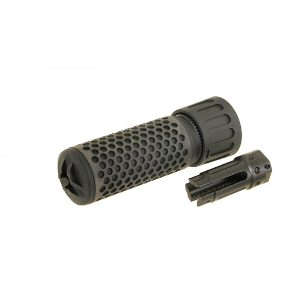 DUMMY 5.56 QDC/CQB SOUND SUPPRESSOR WITH FLASH HIDER - BLACK [BD]