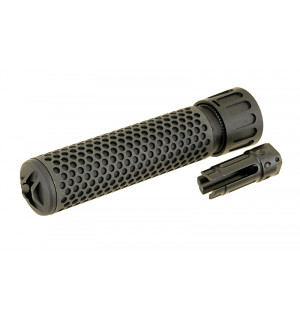 Dummy 5.56 QDC Sound Suppressor with Flash Hider - Black [BD]