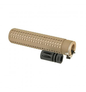 QD SILENCER WITH FLASH HIDER - DARK EARTH [BD]