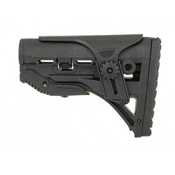 SLEEK BUTTSTOCK W/ CHEEK REST FOR M4/M16 - BLACK [CASTELLAN]