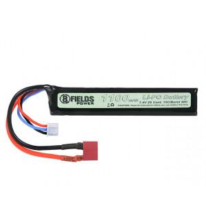 Battery Li-Po 1100mAh 7,4V 15/30C - Deans [8FIELDS]