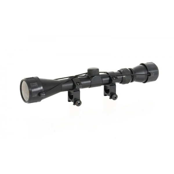SCOPE 3-9X40 WITH HIGH MOUNT RINGS [PCS]
