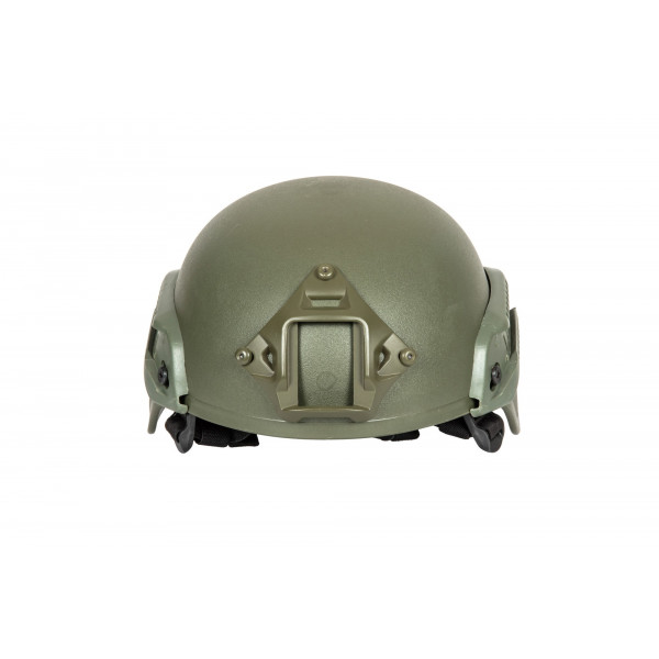 MICH 2000 helmet replica with rails- Olive drab  [ULTIMATE TACTICAL]
