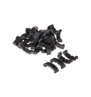 LOW-PROFILE CLIPS FOR RAIL (60 PIECE SET) - BLACK