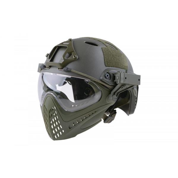 [UTT] Шлем с маской FAST PJ Piloteer Helmet Replica - Olive Drab