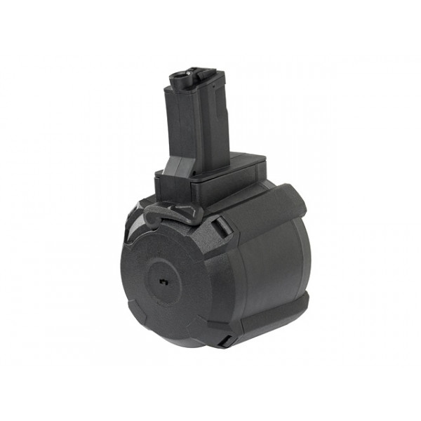 1200rd Electric Drum Magazine for MP5 - Black [BattleAxe]