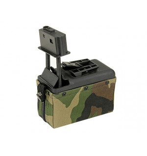 1500rd Electric Box Magazine (Compact size) for M249 - Woodland