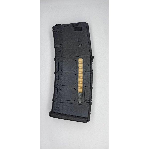 120RD M4/AR-15 MAGAZINE WITH DUMMY AMMO - BLACK [KUBLAI]