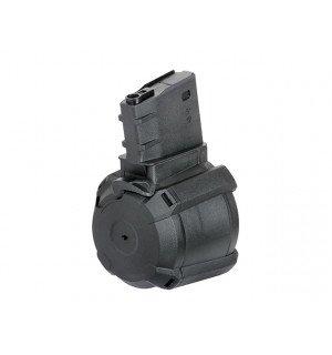 1200rd Electric Drum Magazine for SR25/AR10 - Black [BattleAxe]