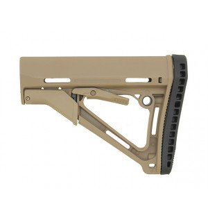 ERGONOMIC TACTICAL STOCK MOD. 1 RUBBER BUT PAD TAN