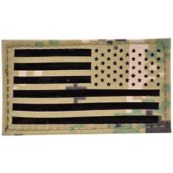 REVERSE USA FLAG PATCH - AOR2 [EM]