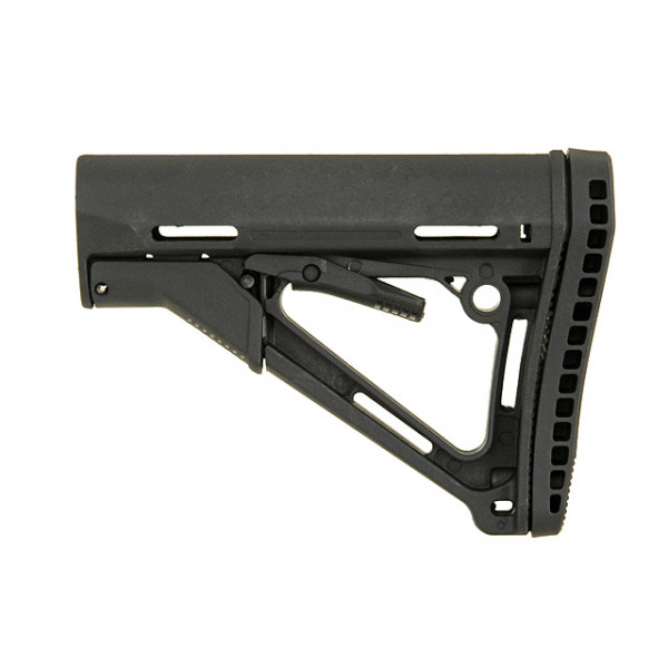 ERGONOMIC TACTICAL STOCK MOD.1 RUBBER Butt-Pad - BLACK [BIG DRAGON]