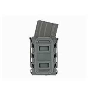 SOFT SHELL RIFLE MAG POUCH WITH MOLLE CLIPS - WOLF GRAY [TMC]