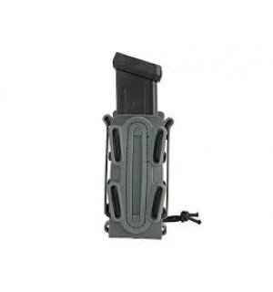 SOFT SHELL PISTOL MAG POUCH WITH MOLLE CLIP - WOLF GRAY [TMC]