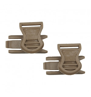 [FMA] GOGGLE SWIVEL CLIPS (19mm) - DARK EARTH