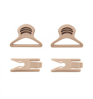 [FMA] GOGGLE SWIVEL CLIPS (36mm) - DARK EARTH
