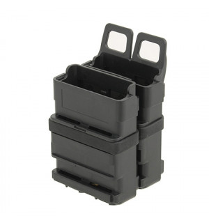 DOUBLE POLYMER 5.56 MAGAZINE POUCH - BLACK [FMA]
