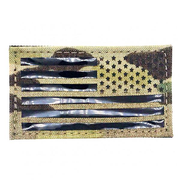 ПВХ ПАТЧ USA FLAG REVERSE - MULTICAM [EM]