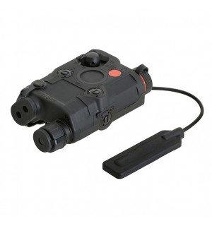 AN-PEQ-15 LIGHT + RED LASER WITH IR LENSES - BLACK [FMA]