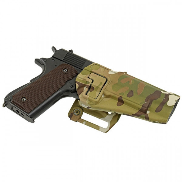 QUICKLY PISTOL HOLSTER WITH LOCKING MECHANISM FOR 1911 - MULTICAM [EM]