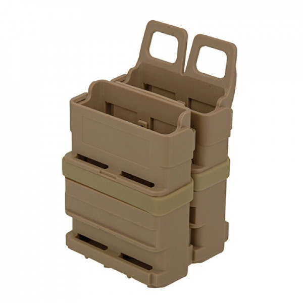 DOUBLE POLYMER 5.56 MAGAZINE POUCH - DARK EARTH [FMA]