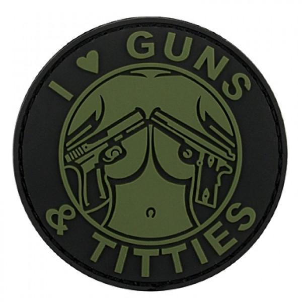 ПВХ ПАТЧ GUNS & TITTIES - ЗЕЛЕНЫЙ [8FIELDS]