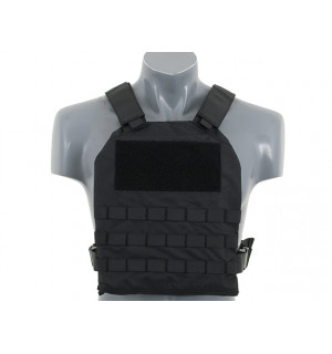 SIMPLE PLATE CARRIER WITH DUMMY SOFT ARMOR INSERTS - BLACK [8FIELDS]