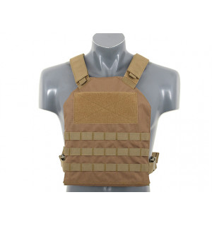 SIMPLE PLATE CARRIER WITH DUMMY SOFT ARMOR INSERTS - COYOTE [8FIELDS]