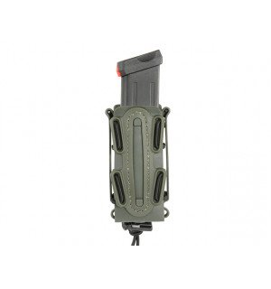 SOFT SHELL PISTOL MAG POUCH WITH MOLLE CLIP - OLIVE [TMC]