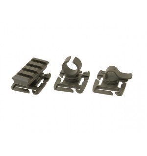 MOLLE WEBBING ATTACHMENT CLIP PACK -OLIVE [FMA]