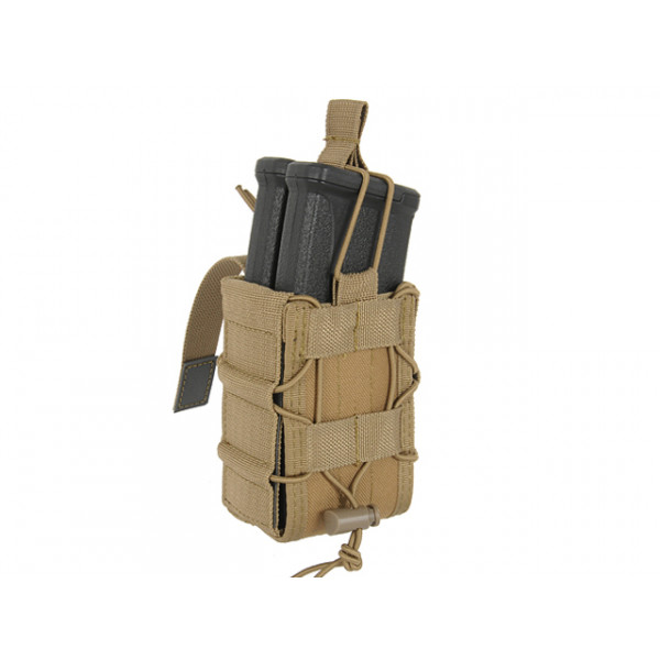 MOLLE DOUBLE RIFLE MAG SPEED POUCH - COYOTE [8FIELDS]
