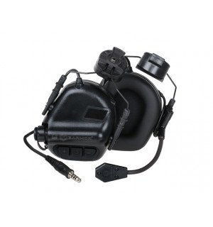 M32H ELECTRONIC COMMUNICATION HEARING PROTECTOR FOR FAST HELMETS - BLACK [EARMOR]