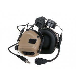 M32H ELECTRONIC COMMUNICATION HEARING PROTECTOR FOR FAST HELMETS - TAN [EARMOR]