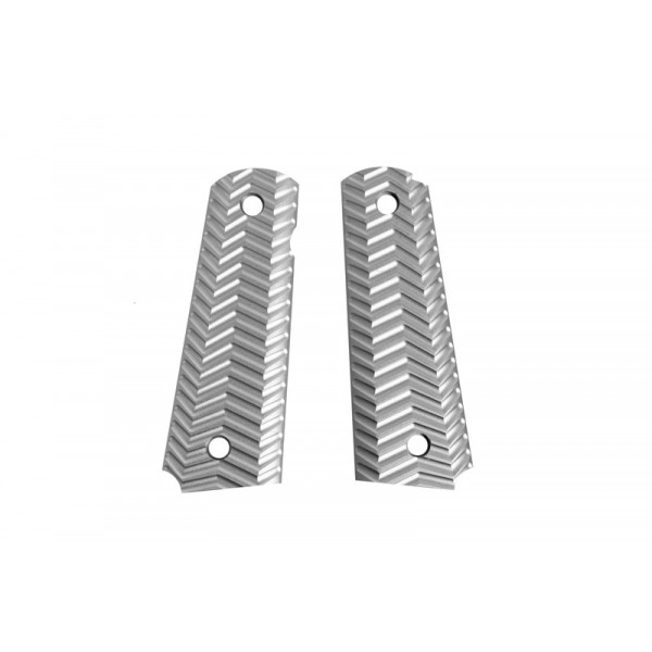 [FMA] Накладки на Colt 1911 Aluminum TYPE C Grip Panels for Colt 1911 Pistols - grey