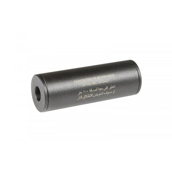 [AE] Глушитель страйкбольный Stay 100 meters back Covert Tactical PRO 35x100mm